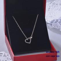 Collar de Plata 925 con Circones para Mujer -PLNEG190-22437