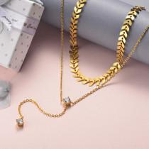 Collar de Acero Inoxidable para Mujer -SSNEG142-22043