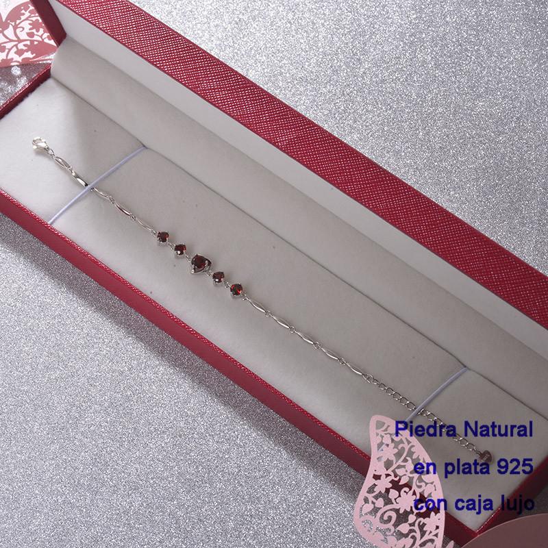 Pulsera de Plata 925 con Perla Natural Granate para Mujer -PLBTG192-22249