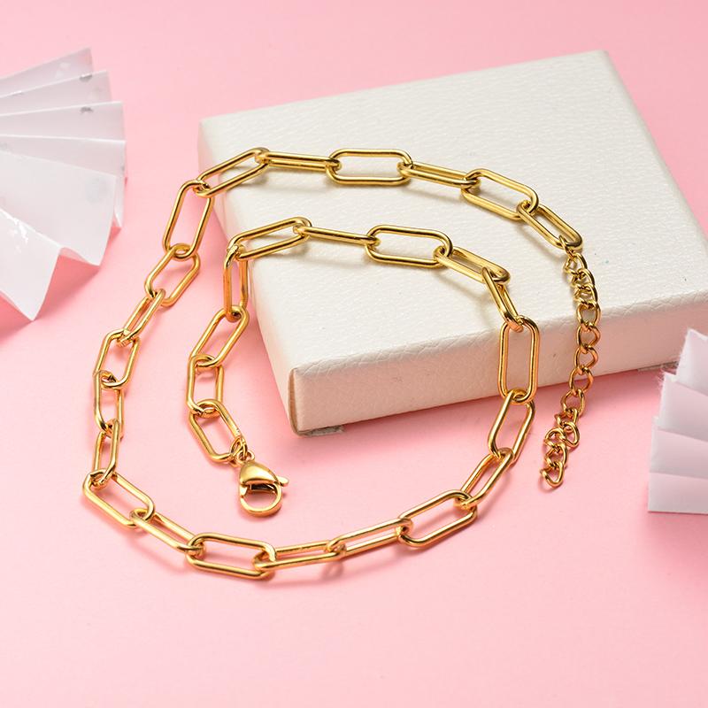 Collar de Acero Inoxidable para Mujer -SSNEG142-22051
