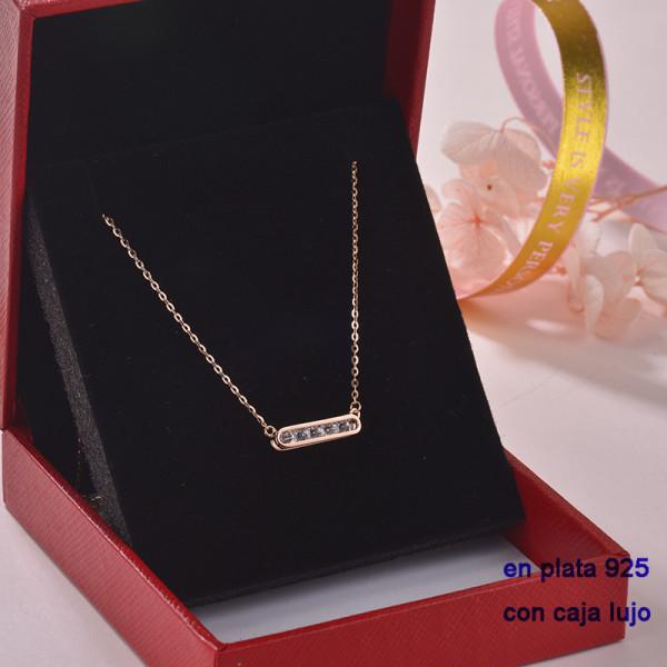 Collar de Plata 925 con Circones para Mujer -PLNEG189-22315