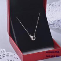 Collar de Plata 925 con Circones para Mujer -PLNEG190-22402