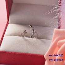 Anillos de Plata 925 con Circones para Mujer -PLRGG190-22288