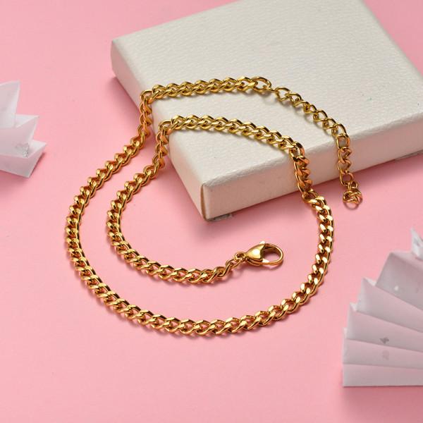 Collar de Acero Inoxidable para Mujer -SSNEG142-22054