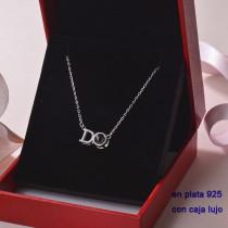 Collar de Plata 925 con Circones para Mujer -PLNEG190-22354