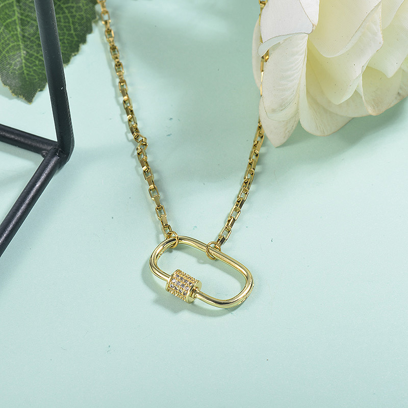 Collar de acero inoxidable para mujer -SSNEG155-23089