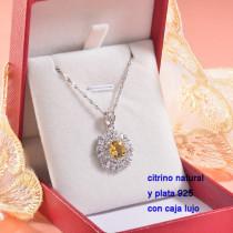 Collar de Plata con piedra preciosa natural-PLNEG196-22776