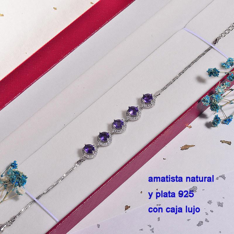 Pulsera de Plata con piedra preciosa natural-PLBTG196-22907