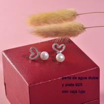 aretes de plata con perla agua de dulce natural-PLEGG197-22913