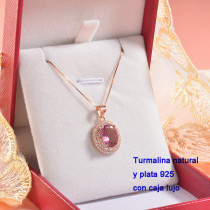 Collar de Plata con piedra preciosa natural-PLNEG196-22778