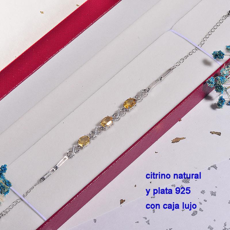 Pulsera de Plata con piedra preciosa natural-PLBTG196-22906