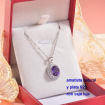 Collar de Plata con piedra preciosa natural-PLNEG196-22780