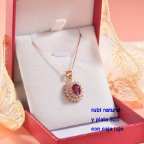 Collar de Plata con piedra preciosa natural-PLNEG196-22770