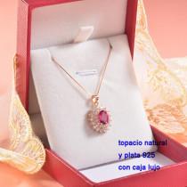 Collar de Plata con piedra preciosa natural-PLNEG196-22769
