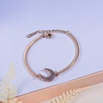 pulsera de acero con chamrs bronce para mujer -SSBTG154-23070