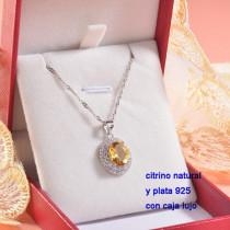Collar de Plata con piedra preciosa natural-PLNEG196-22781