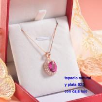 Collar de Plata con piedra preciosa natural-PLNEG196-22779