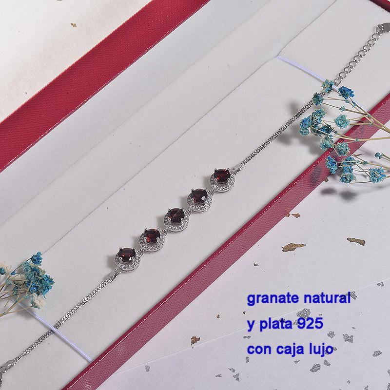 Pulsera de Plata con piedra preciosa natural-PLBTG196-22908