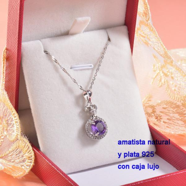 Collar de Plata con piedra preciosa natural-PLNEG196-22775