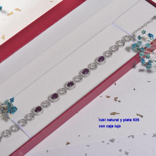 Pulsera de Plata con piedra preciosa natural-PLBTG196-22910