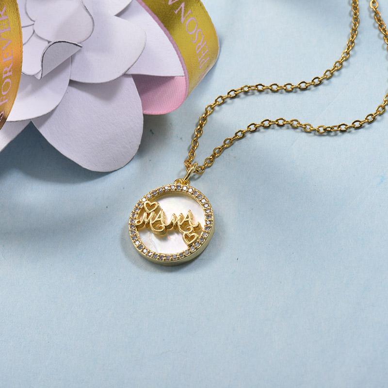 Collares de Laton con cadena de acero -BRNEG158-24068