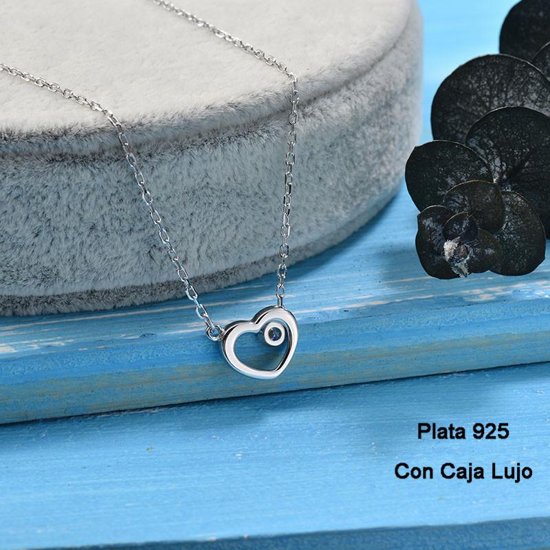 Collares de Plata 925 Puro para Mujer -PLNEG190-24232