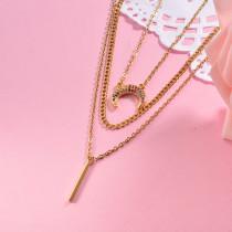 Collar de Laton con cadena de acero -SSNEG142-23788
