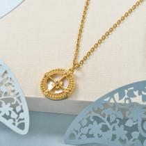 Collares de Laton con cadena de acero -BRNEG158-24051