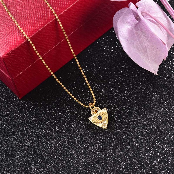 Collar de Laton con cadena de acero -SSNEG142-23751