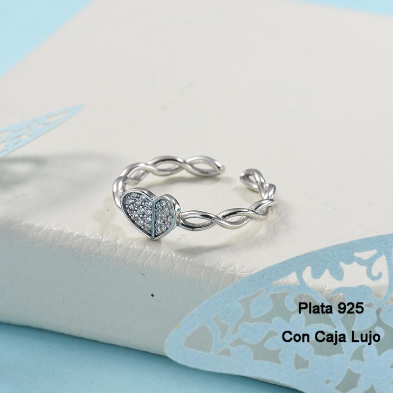 Anillos de Plata 925 Puro para Mujer -PLRGG190-24261