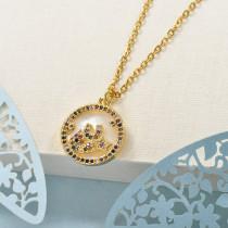 Collares de Laton con cadena de acero -BRNEG158-24048