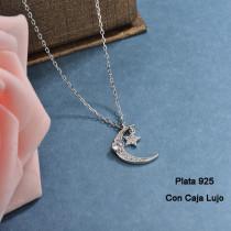 Collares de Plata 925 Puro para Mujer -PLNEG190-24204