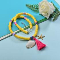 Collares de Estilo bohemio con Charms Acero -SSNEG143-23998