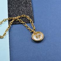 Collares de Laton con cadena de acero -SSNEG142-23954
