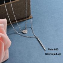 Collares de Plata 925 Puro para Mujer -PLNEG190-24206