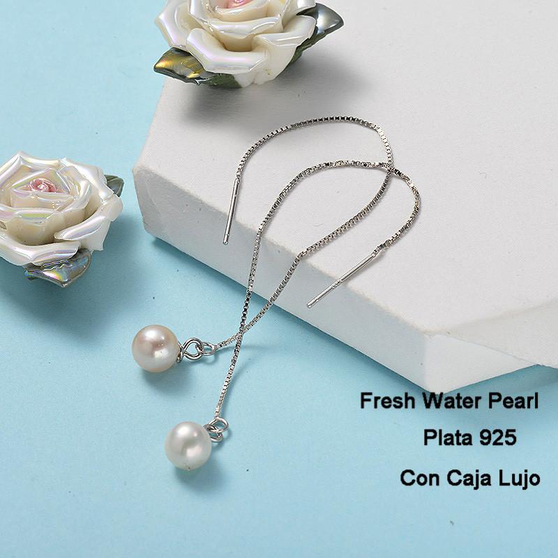 Aretes de Plata 925 Puro para Mujer -PLEGG191-24263