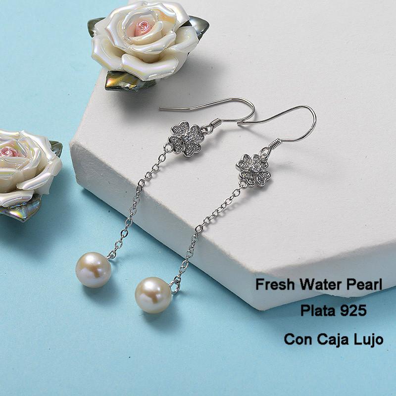 Aretes de Plata 925 Puro para Mujer -PLEGG191-24265