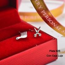 Aretes de Plata 925 Puro para Mujer -PLEGG190-24165