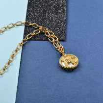 Collares de Laton con cadena de acero -SSNEG142-23955