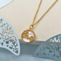 Collares de Laton con cadena de acero -BRNEG158-24046