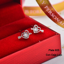 Aretes de Plata 925 Puro para Mujer -PLEGG190-24162