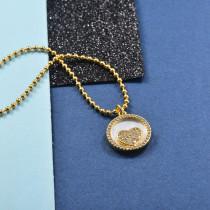 Collares de Laton con cadena de acero -SSNEG142-23958