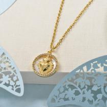 Collares de Laton con cadena de acero -BRNEG158-24055