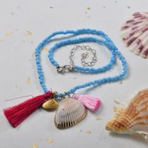 Collares de Estilo bohemio con Charms Acero -SSNEG143-24010