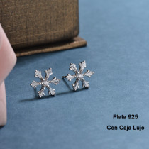 Aretes de Plata 925 Puro para Mujer -PLEGG190-24186