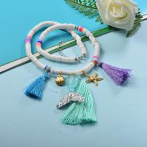 Collares de Estilo bohemio con Charms Acero -SSNEG143-23996