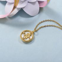 Collares de Laton con cadena de acero -BRNEG158-24059