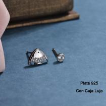 Aretes de Plata 925 Puro para Mujer -PLEGG190-24188