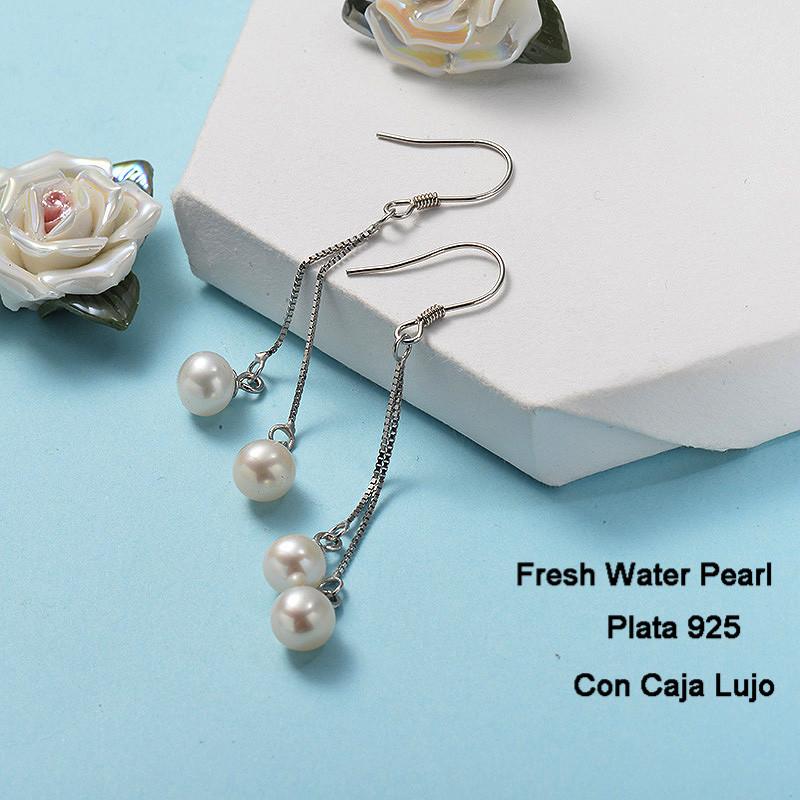 Aretes de Plata 925 Puro para Mujer -PLEGG191-24270