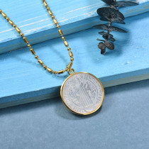 Collares de Laton con cadena de acero -SSNEG142-23969